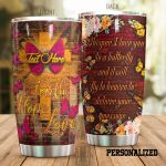 Personalized Butterfly It Will Fly To Heaven Stainless Steel Tumbler Perfect Gifts For Butterfly Lover Tumbler Cups For Coffee/Tea, Great Customized Gifts For Birthday Christmas Thanksgiving