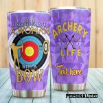 Personalized Archery Never Underestimate A Woman With A Bow Stainless Steel Tumbler Perfect Gifts For Archery Lover Tumbler Cups For Coffee/Tea, Great Customized Gifts For Birthday Christmas Thanksgiving
