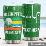 Personalized Golf Sinking Putts Stainless Steel Tumbler Tumbler Cups For Coffee/Tea Great Customized Gifts For Birthday Christmas Thanksgiving Awesome Gifts For Golf Lover