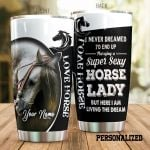 Personalized Super Sexy Horse Lady Stainless Steel Tumbler Tumbler Cups For Coffee/Tea Perfect Customized Gifts For Birthday Christmas Thanksgiving Awesome Gifts For Horse Lovers