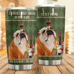 Personalized Bulldog Wine A Woman Cannot Survive Stainless Steel Tumbler Tumbler Cups For Coffee/Tea Great Customized Gifts For Birthday Christmas Thanksgiving Perfect Gifts For Dog Lovers