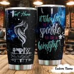 Personalized Hairstylist It Takes Lots Of Sparkle To Be A Hairstylist Stainless Steel Tumbler Perfect Gifts For Hairstylist Tumbler Cups For Coffee/Tea, Great Customized Gifts For Birthday Christmas Thanksgiving