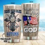 Personalized Police I Stand For The Flag And I Kneel For The God Stainless Steel Tumbler Perfect Gifts For Police Lover Tumbler Cups For Coffee/Tea, Great Customized Gifts For Birthday Christmas Thanksgiving