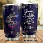 Personalized Bohemian Dream Big Shine Bright Stainless Steel Tumbler Perfect Gifts For Bohemian Lover Tumbler Cups For Coffee/Tea, Great Customized Gifts For Birthday Christmas Thanksgiving
