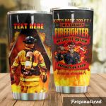 Personalized Firefighter My Level Of Sarcarsm Depends On Your Stupidity Stainless Steel Tumbler Perfect Gifts For Firefighter Tumbler Cups For Coffee/Tea, Great Customized Gifts For Birthday Christmas Thanksgiving