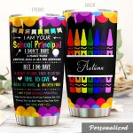 Personalized Teacher Crayon I Do Have Heart To Care Stainless Steel Tumbler Perfect Gifts For Teacher Lover Tumbler Cups For Coffee/Tea, Great Customized Gifts For Birthday Christmas Thanksgiving
