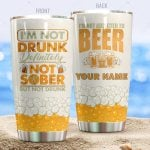 Personalized Beer I'm Not Drunk Stainless Steel Tumbler Perfect Gifts For Beer Lover Tumbler Cups For Coffee/Tea, Great Customized Gifts For Birthday Christmas Thanksgiving