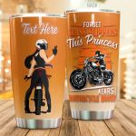 Personalized Forget Glass Slippers This Princess Wears Motorcycle Boots Stainless Steel Tumbler Perfect Gifts For Motorcycle Lover Tumbler Cups For Coffee/Tea, Great Customized Gifts For Birthday Christmas Thanksgiving