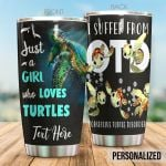 Personalized Sea Turtle I Suffer From Obsessive Turtle Disorder Stainless Steel Tumbler Perfect Gifts For Sea Turtle Lover Tumbler Cups For Coffee/Tea, Great Customized Gifts For Birthday Christmas Thanksgiving