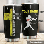 Personalized Softball Girl A Little Bit Of Softball Stainless Steel Tumbler Perfect Gifts For Softball Lover Tumbler Cups For Coffee/Tea, Great Customized Gifts For Birthday Christmas Thanksgiving