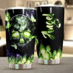 Personalized Magic Glowing Skull Butterfly Stainless Steel Tumbler Perfect Gifts For Skull Lover Tumbler Cups For Coffee/Tea, Great Customized Gifts For Birthday Christmas Thanksgiving