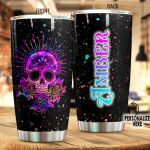 Personalized Magical Glowing Skull Stainless Steel Tumbler Perfect Gifts For Skull Lover Tumbler Cups For Coffee/Tea, Great Customized Gifts For Birthday Christmas Thanksgiving