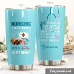 Personalized Nurse Save The Man In Front Of You Stainless Steel Tumbler Perfect Gifts For Nurse Tumbler Cups For Coffee/Tea, Great Customized Gifts For Birthday Christmas Thanksgiving