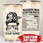 Qd - Personalized - Trucker's Wife Tumbler