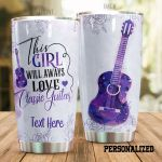 Personalized Guitar Always Love Classic Guitar Stainless Steel Tumbler Perfect Gifts For Guitar Lover Tumbler Cups For Coffee/Tea, Great Customized Gifts For Birthday Christmas Thanksgiving