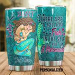 Personalized Mermaid Salty But Sweet Stainless Steel Tumbler Perfect Gifts For Mermaid Lover Tumbler Cups For Coffee/Tea, Great Customized Gifts For Birthday Christmas Thanksgiving