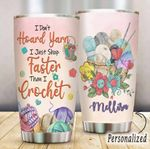 Personalized Crochet I Don't Hoard Yarn Stainless Steel Tumbler Perfect Gifts For Yarn Lover Tumbler Cups For Coffee/Tea, Great Customized Gifts For Birthday Christmas Thanksgiving