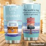 Personalized Traveling The World Is Big Stainless Steel Tumbler Perfect Gifts For Traveling Lover Tumbler Cups For Coffee/Tea, Great Customized Gifts For Birthday Christmas Thanksgiving