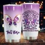 Personalized Purple Butterfly My Soul Knows You Are At Peace Stainless Steel Tumbler Perfect Gifts For Butterfly Lover Tumbler Cups For Coffee/Tea, Great Customized Gifts For Birthday Christmas Thanksgiving
