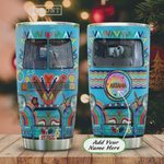 Personalized Tie Dye Hippie Van Stainless Steel Tumbler, Tumbler Cups For Coffee/Tea, Great Customized Gifts For Birthday Christmas Thanksgiving