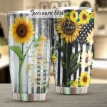 Personalized Sunflower With Irresistible Charm Stainless Steel Tumbler Perfect Gifts For Sunflower Lover Tumbler Cups For Coffee/Tea, Great Customized Gifts For Birthday Christmas Thanksgiving