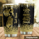 Personalized Golden Mermaid The Ocean Stirs The Heart Stainless Steel Tumbler Perfect Gifts For Mermaid Lover Tumbler Cups For Coffee/Tea, Great Customized Gifts For Birthday Christmas Thanksgiving