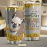 Personalized This Year I Will Be Stronger Braver Kinder And Unstoppable This Year I Will Be Fierce Stainless Steel Tumbler, Tumbler Cups For Coffee/Tea, Great Customized Gifts For Birthday Christmas Thanksgiving