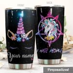 Personalized Glitter Unicorn I Hate People Stainless Steel Tumbler Perfect Gifts For Unicorn Lover Tumbler Cups For Coffee/Tea, Great Customized Gifts For Birthday Christmas Thanksgiving