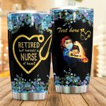 Personalized Nurse Stethoscope Retired But Forever A Nurse At Heart Stainless Steel Tumbler Perfect Gifts For Nurse Tumbler Cups For Coffee/Tea, Great Customized Gifts For Birthday Christmas Thanksgiving