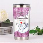 Elephant The Love Between A Nana And Her Granddaughter Is Forever Stainless Steel Tumbler Perfect Gifts For Elephant Lover Tumbler Cups For Coffee/Tea, Great Customized Gifts For Birthday Christmas Thanksgiving