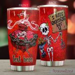 Personalized Skull Couple Eveything But U Stainless Steel Tumbler Perfect Gifts For Skull Lover Tumbler Cups For Coffee/Tea, Great Customized Gifts For Birthday Christmas Thanksgiving Wedding Valentine's Day