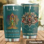 Personalized Yoga Makes You Beautiful Stainless Steel Tumbler Perfect Gifts For Yoga Lover Tumbler Cups For Coffee/Tea, Great Customized Gifts For Birthday Christmas Thanksgiving