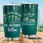 Personalized Bartender I'm Never Drinking Again Stainless Steel Tumbler Perfect Gifts For Bartender Tumbler Cups For Coffee/Tea, Great Customized Gifts For Birthday Christmas Thanksgiving