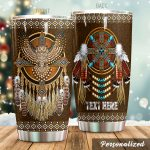 Personalized Native American Dreamcatcher Stainless Steel Tumbler Perfect Gifts For Native American Culture Lover Tumbler Cups For Coffee/Tea, Great Customized Gifts For Birthday Christmas Thanksgiving