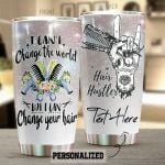 Personalized Hair Hustler I Can Change Your Hair Stainless Steel Tumbler Tumbler Cups For Coffee/Tea Meaningful Customized Gifts For Birthday Christmas Thanksgiving Awesome Gifts For Hair Stylist