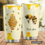 Personalized Bee Sweetness To The Soul Stainless Steel Tumbler Perfect Gifts For Bee Lover Tumbler Cups For Coffee/Tea, Great Customized Gifts For Birthday Christmas Thanksgiving