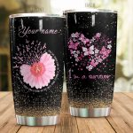 Personalized Breast Cancer We Don't Know How Strong We Are Stainless Steel Tumbler Perfect Gifts For Breast Cancer Awareness Tumbler Cups For Coffee/Tea, Great Customized Gifts For Birthday Christmas Thanksgiving