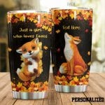 Personalized The Cutest Fox Just A Girl Who Loves Foxes Stainless Steel Tumbler Perfect Gifts For Fox Lover Tumbler Cups For Coffee/Tea, Great Customized Gifts For Birthday Christmas Thanksgiving