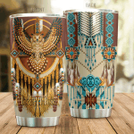 Personalized Native American Pattern And Owl Stainless Steel Tumbler Perfect Gifts For Native American Culture Lover Tumbler Cups For Coffee/Tea, Great Customized Gifts For Birthday Christmas Thanksgiving