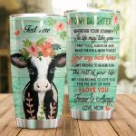 Personalized Lovely Cow To My Daughter From Mom Never Forget Your Way Back Home Stainless Steel Tumbler Perfect Gifts For Cow Lover Tumbler Cups For Coffee/Tea, Great Customized Gifts For Birthday Christmas Thanksgiving
