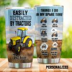 Personalized Tractor Things I Do In My Spare Time Stainless Steel Tumbler Tumbler Cups For Coffee/Tea Great Customized Gifts For Birthday Christmas Thanksgiving Perfect Gifts For Tractor Lovers