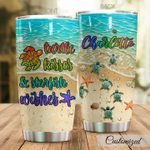 Personalized Sea Turtle Turtle Kisses Starfish Wishes Stainless Steel Tumbler Perfect Gifts For Sea Turtle Lover Tumbler Cups For Coffee/Tea, Great Customized Gifts For Birthday Christmas Thanksgiving