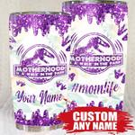 Qd - Personalized - Motherhood Dinosaurs Tumbler