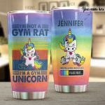 Personalized I'm A Gym Unicorn Stainless Steel Tumbler Perfect Gifts For Unicorn Lover Tumbler Cups For Coffee/Tea, Great Customized Gifts For Birthday Christmas Thanksgiving
