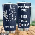 Personalized Motorbike One Life One Love Stainless Steel Tumbler Perfect Gifts For Motorcycle Lover Tumbler Cups For Coffee/Tea, Great Customized Gifts For Birthday Christmas Thanksgiving