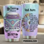 Personalized Hippie Give Me The Beat And Free My Soul I Wanna Get Lost Your Rock And Roll And Drift Away Stainless Steel Tumbler, Tumbler Cups For Coffee/Tea, Great Customized Gifts For Birthday Christmas Thanksgiving