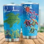 Personalized Sea Turtle Slow Down Trust The Flow Stainless Steel Tumbler Perfect Gifts For Turtle Lover Tumbler Cups For Coffee/Tea, Great Customized Gifts For Birthday Christmas Thanksgiving