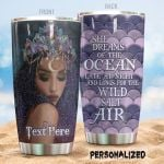 Personalized Mermaid Princess Longs For The Wild Salt Air Stainless Steel Tumbler Perfect Gifts For Mermaid Lover Tumbler Cups For Coffee/Tea, Great Customized Gifts For Birthday Christmas Thanksgiving