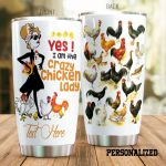 Personalized Crazy Chicken Lady Stainless Steel Tumbler Perfect Gifts For Chicken Lover Tumbler Cups For Coffee/Tea, Great Customized Gifts For Birthday Christmas Thanksgiving