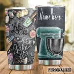 Personalized Baking Life Is What You Bake Stainless Steel Tumbler Perfect Gifts For Baking Lover Tumbler Cups For Coffee/Tea, Great Customized Gifts For Birthday Christmas Thanksgiving